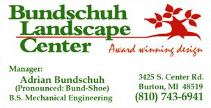 Adrian Bundschuh business card with contact info