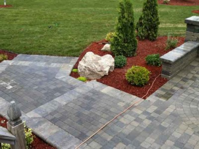 Pillar, seat wall, patio and steps located in Davison, MI